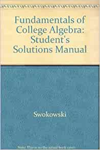 student solutions manual swokowski cole 11th