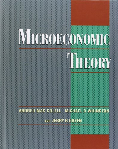 solutions manual for microeconomic theory mas colell whinston and green